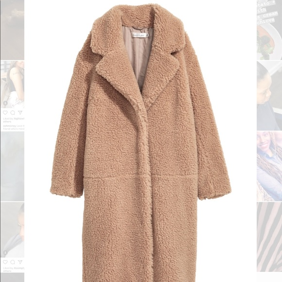 4bb2ba54b H&M Long Pile coat Sz Med. sold out everywhere!